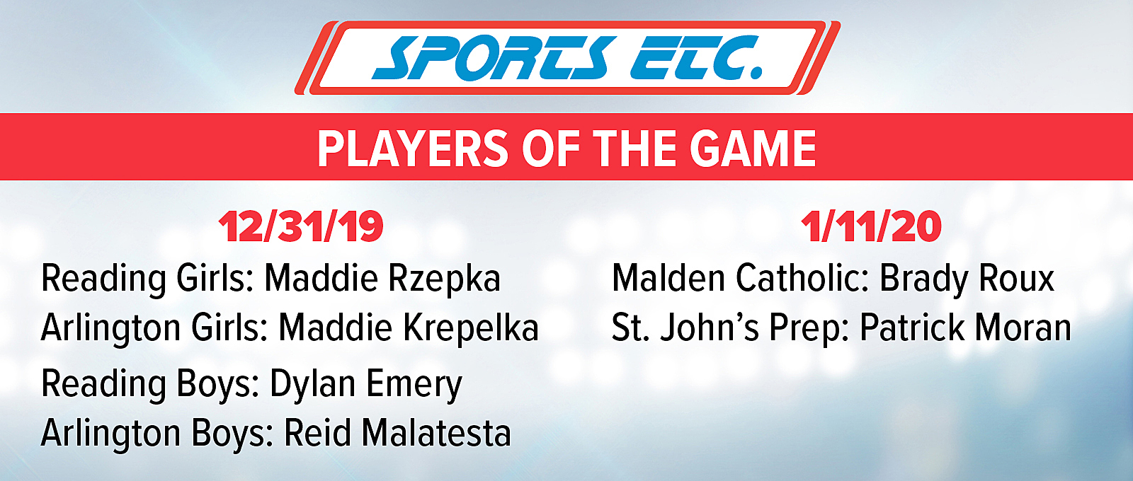 Sports Etc Player of The Game Program